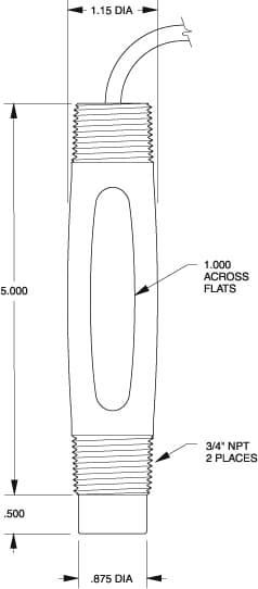 S410 ProcessProbe dimension drawing